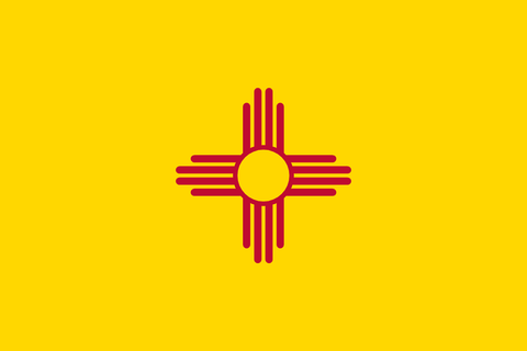 New Mexico State Flag in TrueKolor Wrinkle Free Fabric