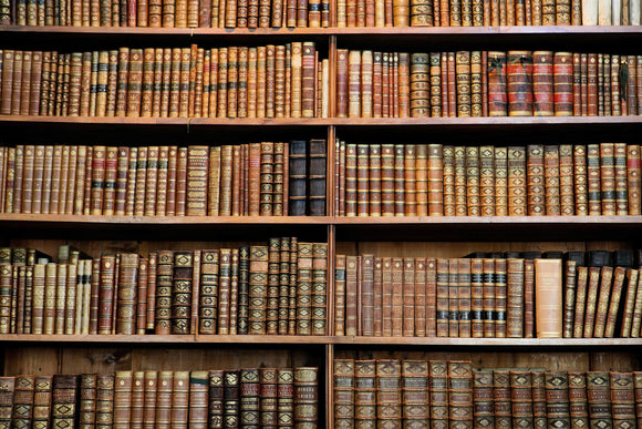 Old Books in the Library of Vienna Print Photography Backdrop