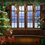 Snowy Outview Photo Christmas Print Photography Backdrop