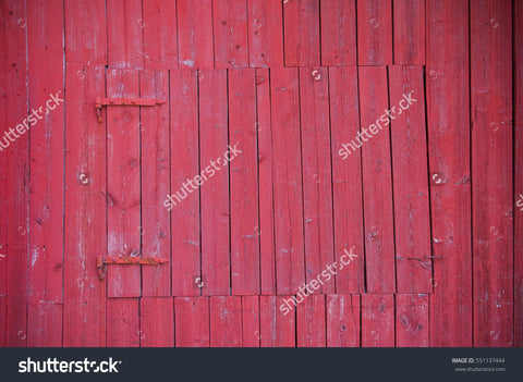 Red Wooden Barn Print Photography Backdrop