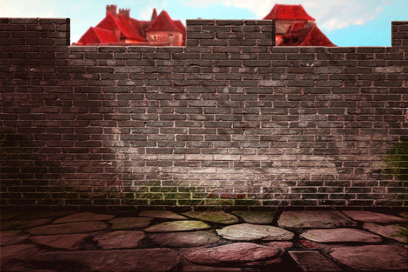 Supermario Brick Wall Print Photography Backdrop