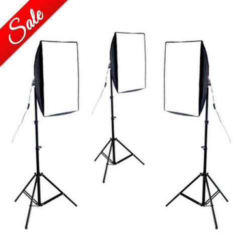 3 Head Continuous Economy Softbox Studio Daylighting Kit Equipment 1
