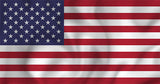 USA Country Flag in TrueKolor Wrinkle Free Fabric