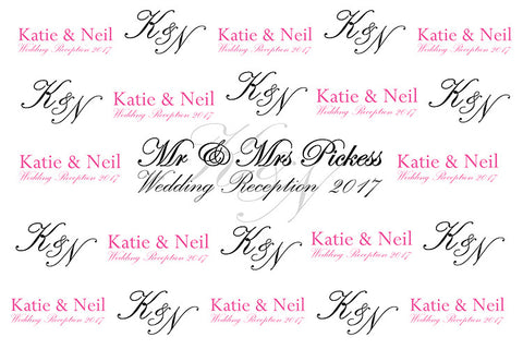 Customized Wedding Background Banner - Image 1