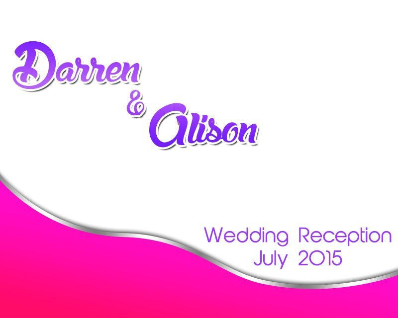 Customized Wedding Background Banner - Image 5