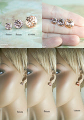 Amelia earrings | Swarovski crystal | 8mm Paradise Shine