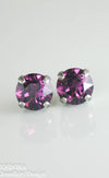 Amelia earrings | Swarovski crystal | 8mm Amethyst