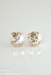 Amelia earrings | Swarovski crystal | 8mm Golden shadow