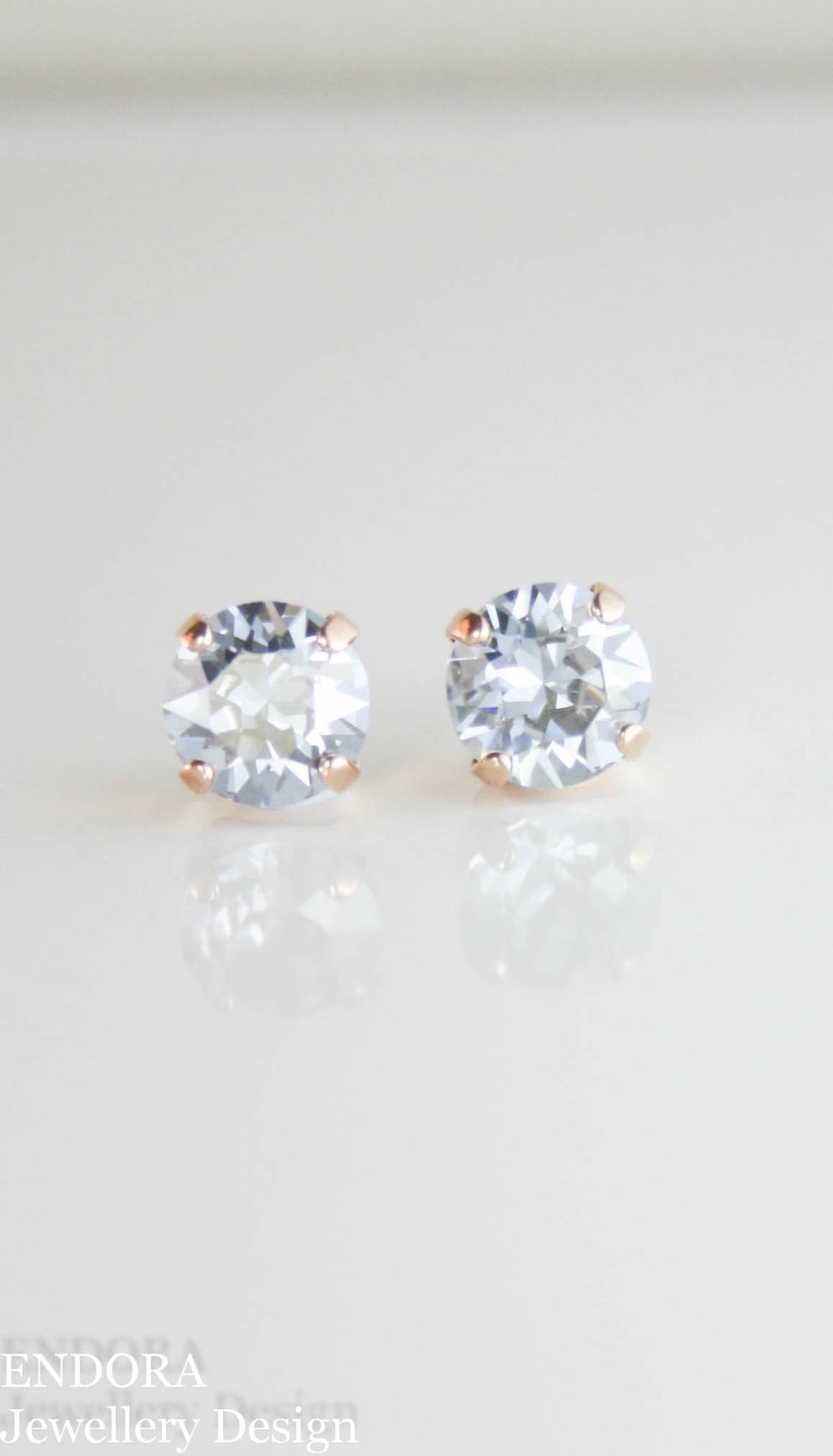 Amelia earrings | Swarovski crystal | 8mm Blue shade