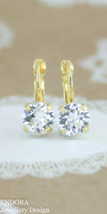 Amelia earrings | Swarovski crystal | 8mm Clear crystal