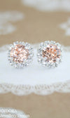 Peach bridesmaid earrings