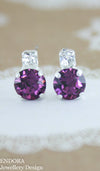 Swarovski Amethyst earrings