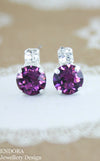 Amethyst crystal earrings | Swarovski amethyst