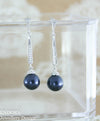 Swarovsk night blue pearl earrings | navy blue
