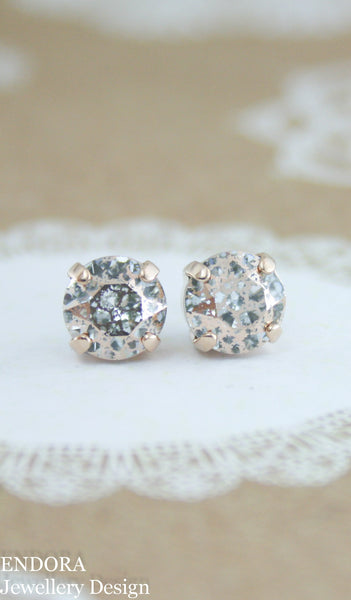 Amelia earrings | Swarovski crystal | 8mm Rose patina