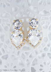 Swarovski statement bridal earrings | bridal earrings