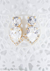 Swarovski statement bridal earrings | bridal earrings | Endora Jewellery
