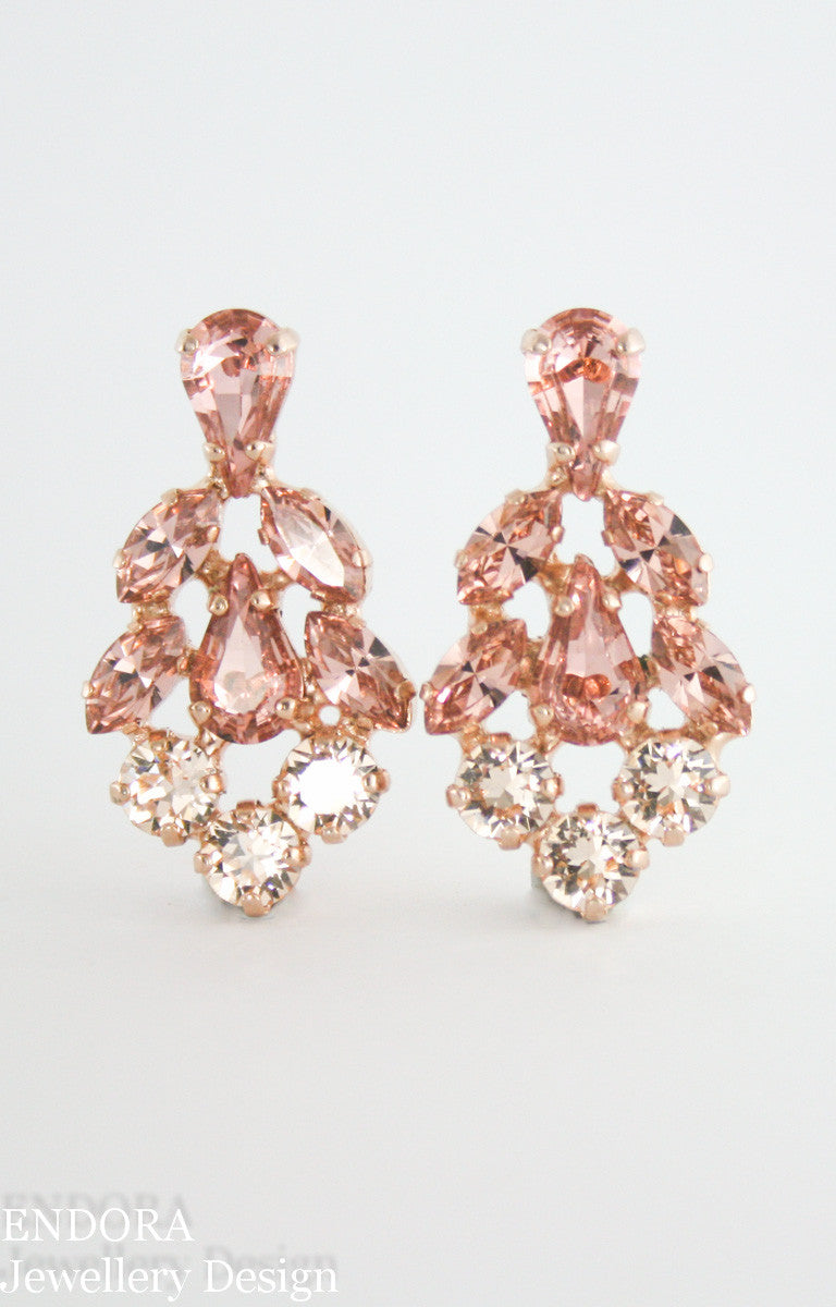 Swarovski Blush crystal earrings - Vintage inspired Georgia