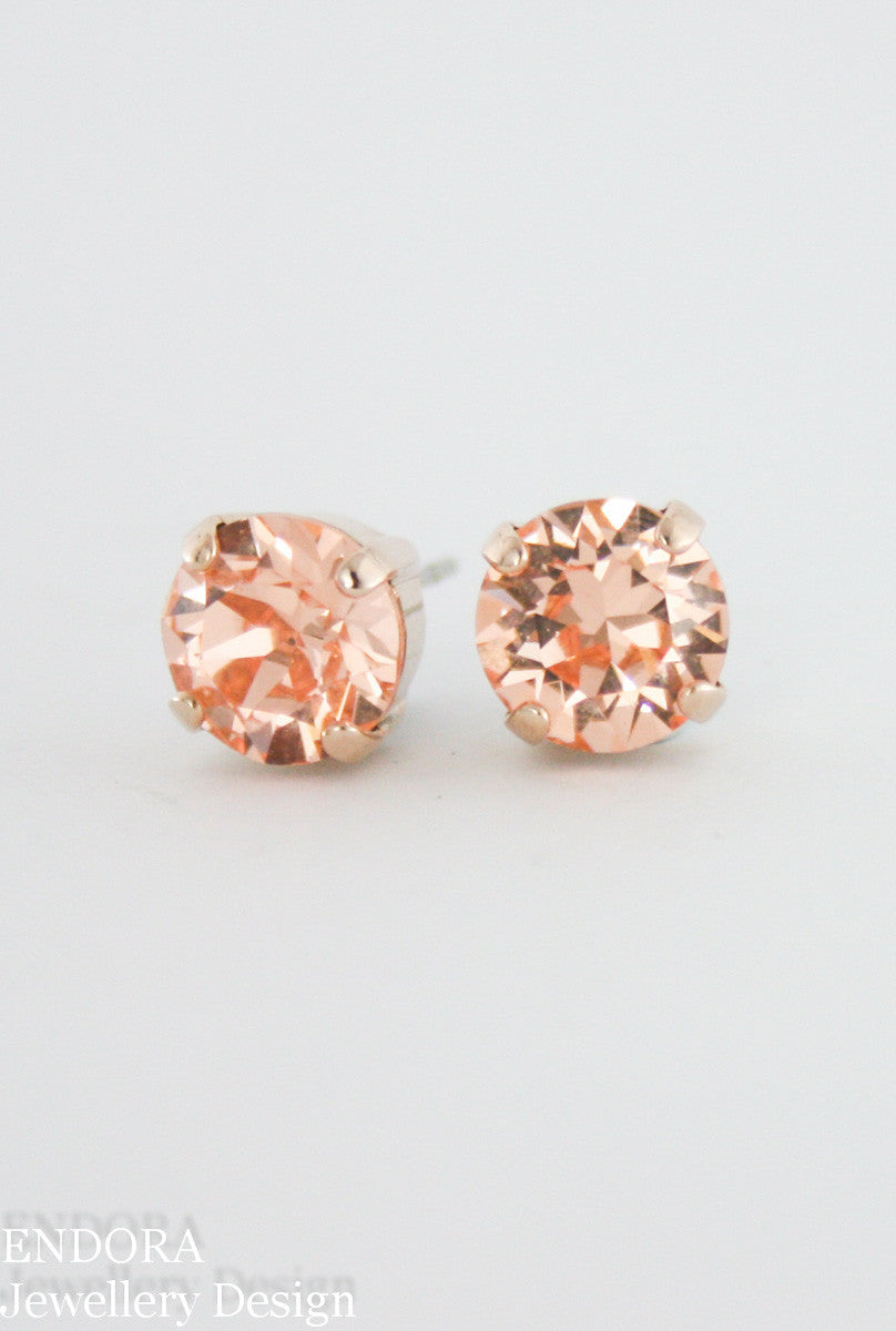 Swarovski peach crystal earrings