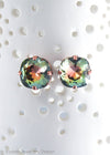 Swarovski limited edition 10mm cushion cut Twilight earrings