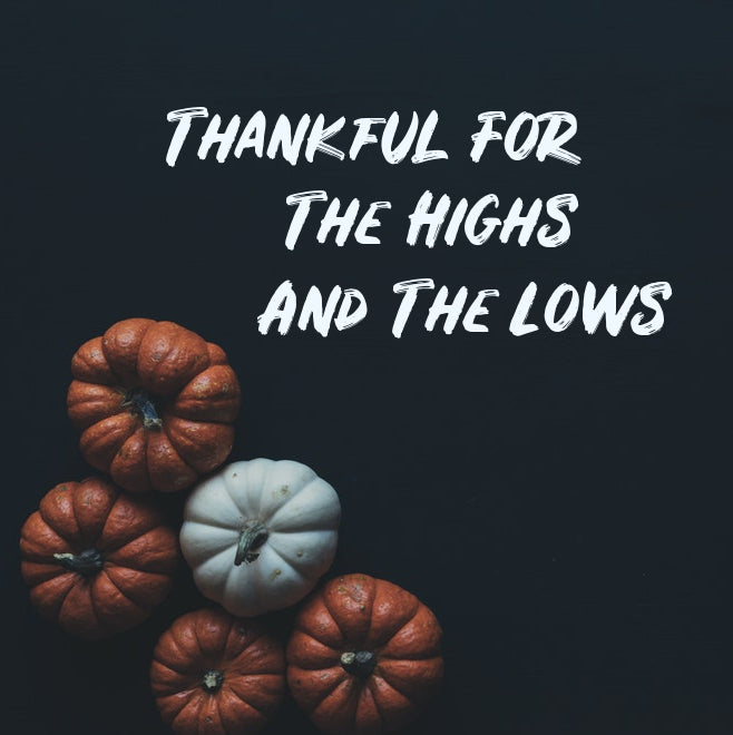 Thankful For The Highs And Lows