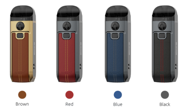 Four SMOK Nord 4 vape devices with their colors labelled beneath.