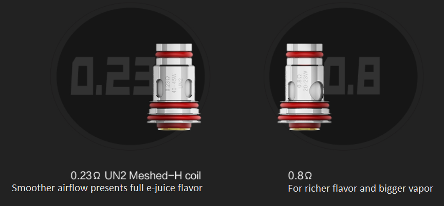 2 vape coils used for the Uwell Aeglos pod mod kit and text beneath.