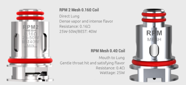 Two SMOK coils with text describing each one's features.