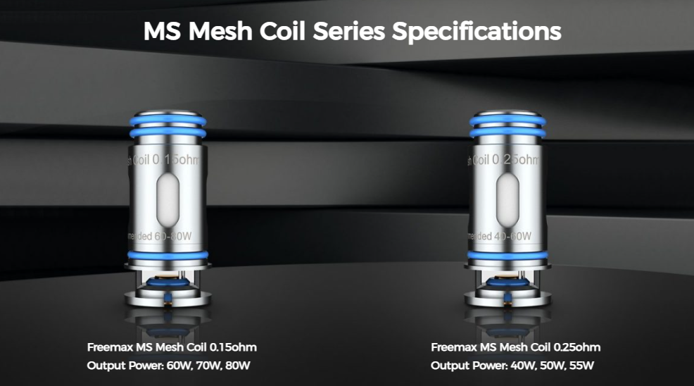 Two Freemax replacement coils with details listed under each.