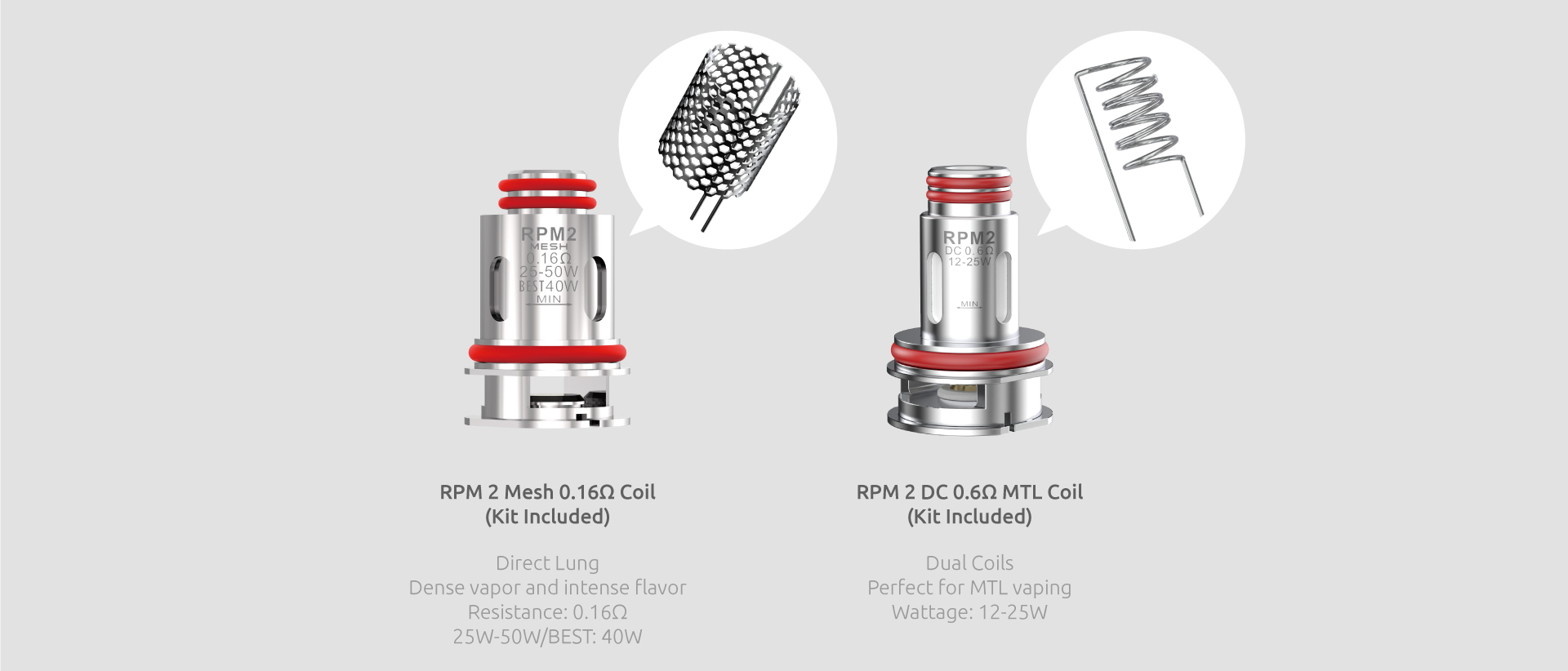 Two silver SMOK replacement coils with text beneath.