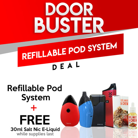 Black Friday Door Buster - Pod System with Free Salt Nic Juice