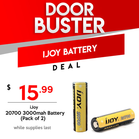 Ijoy 20700 Batteries - 2 for 15.99 Black Friday Door Buster