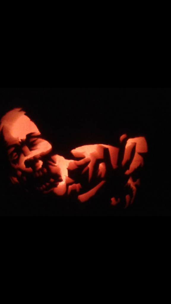 the walking dead jack o lantern