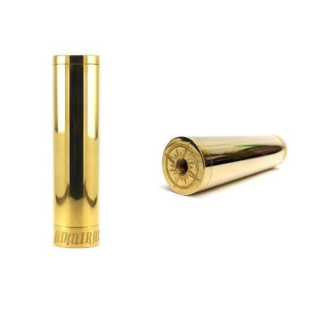 Broadside Admiral Tube Mechanical Mod by BJ Box Mods in Brass
