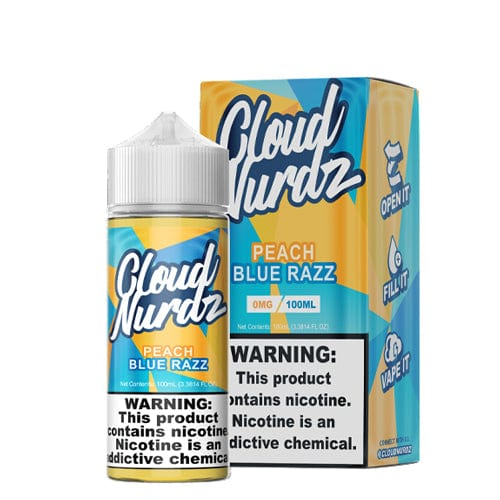 Cloud Nurdz Peach Blue Razz 100ml Vape Juice