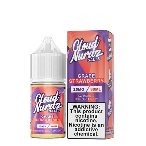 Cloud Nurdz Salts Grape Strawberry 30ml Nic Salt Vape Juice