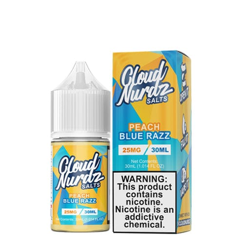 Cloud Nurdz Salts Peach Blue Razz 30ml Nic Salt Vape Juice