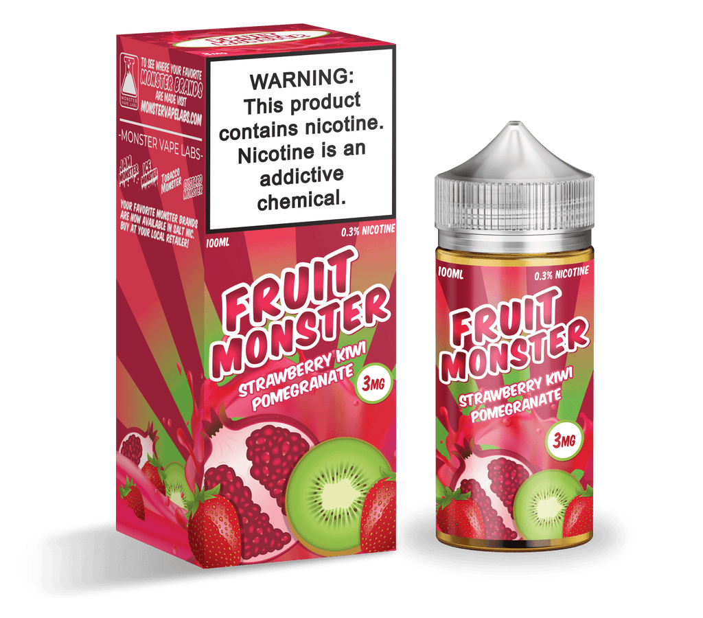 Fruit Monster Strawberry Kiwi Pomegranate 100ml Vape Juice