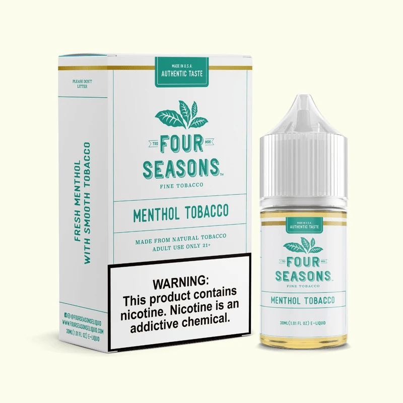 Four Seasons E-Liquids Menthol Tobacco 30ml Vape Juice