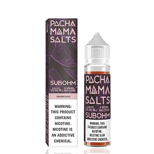 Pachamama Subohm Salts Starfruit Grape 60ml Vape Juice