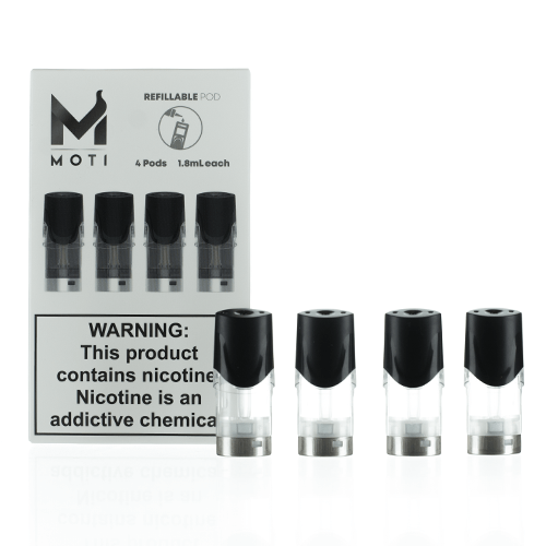 MOTI Vape Refillable Replacement Pod Cartridges (Pack of 4)