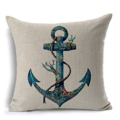Anchor Throw Pillow (inserts included)