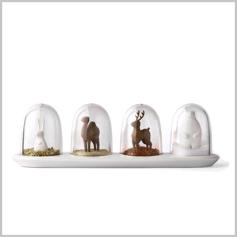 """Animal Parade"" Spice Shaker - Set of Four"