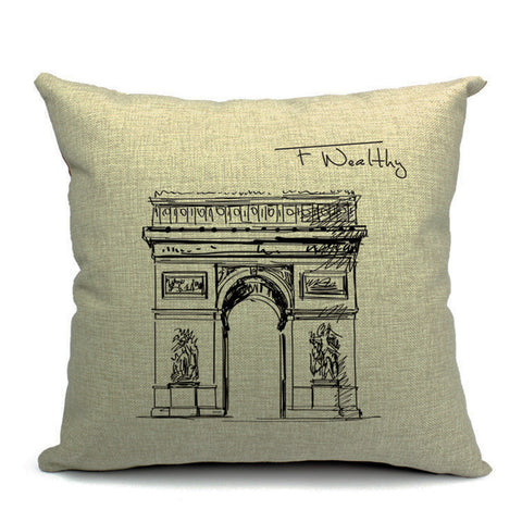 Arc de Triomphe Throw Pillow (inserts included)
