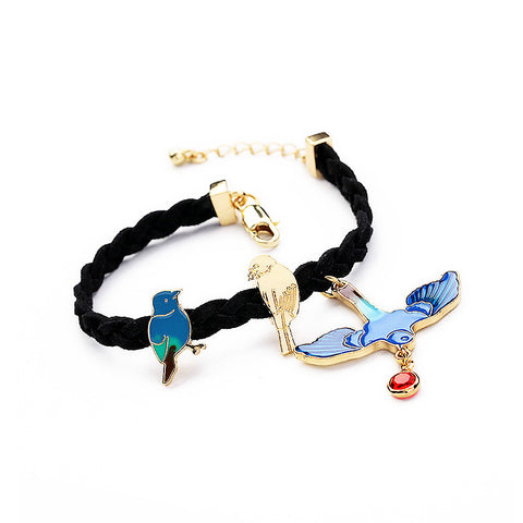 """Birds of a Feather..."" Link Bracelet"