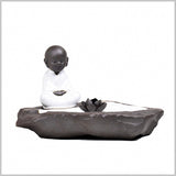 """Boy in Meditation"" Aromatherapy Candle/Incense Holder"