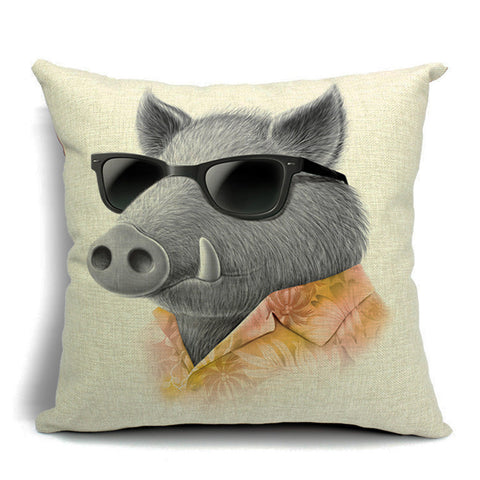 Breezy Boar Throw Pillow (inserts included)