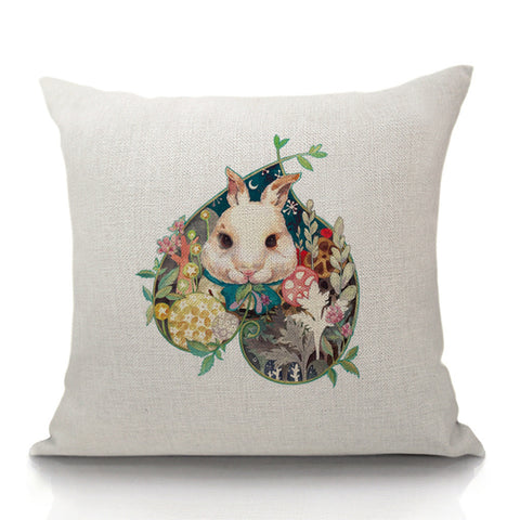 Bunny in a Patch Throw Pillow (inserts included)