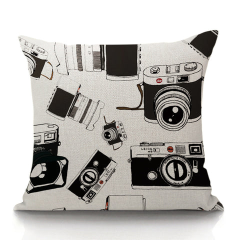Camera's Medley Throw Pillow (inserts included)