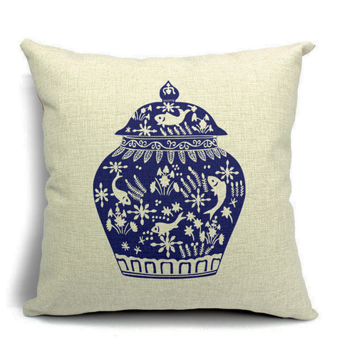 Chinoiserie Vase Throw Pillow (inserts included)